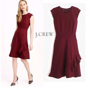 36631db3fa J. Crew Dresses | Jcrew Rufflehem Italian Wool Crepe Dress | Poshmark